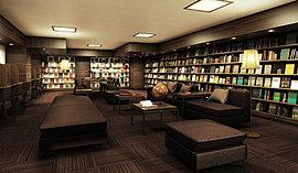 コーヒーを片手に、マガジンや図鑑など、お好みの読書を愉しむことができる「ライブラリー」を設置。ゆったり寛げるソファラウンジや、お一人で集中できる個別ブースをご用意。