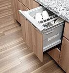 ワイドな引き出しで、お手入れも簡単なフラットな洗浄槽を採用しています。