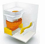 浴槽の周辺を断熱材でしっかりと囲んだ形状で、断熱効果を高めお湯の温度低下を抑えます。省エネ効果に優れています。(参考イラスト)