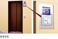 エレベーター内部の様子を確認できるよう、各階のエレベーターホールにテレビモニターを設置しました。