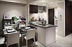 リビング・ダイニング※掲載の写真は建物内モデルルーム(Hgタイプ)を2016年7月に撮影したもので、家具及び調度品は販売価格に含まれておりません。また、一部有償オプション等が含まれております。