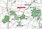 東京の中心で広大な緑と寄り添う暮らし (東京の緑の中心で暮らす) ※ロケーション概念図