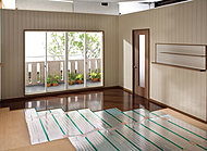 寒い冬でも安全・安心な「温水式床暖房システム」を、全戸のリビング・ダイニングに導入しました。