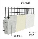 隣り合う住戸間を区切る戸境壁は、強度とプライバシーが保たれる様に、200mmのコンクリート壁としています。