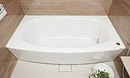 浴槽は柔らかなアーチを描く、置き浴槽感覚デザインでアーチ部分がやさしく体をささえます。※F・Gタイプは形状が異なります。