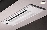 空間のイメージを保つために天井埋込型エアコンをリビングに標準装備しています。
