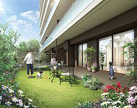 1階住戸には専用庭をご用意。