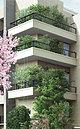 街並みと調和し、道往く人の目を引くグリーンギャラリーは、建物と一体となったデザインと多彩な樹種で構成。(外観完成予想図)