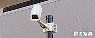 敷地内の要所に防犯カメラを設置。録画した映像は管理室で一定期間保管し、犯罪の抑止効果を発揮。