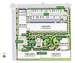 ※掲載の敷地配置イラストは計画段階の図面を基に描き起こしたもので、実際とは多少異なります。