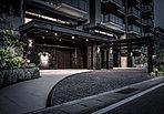 【エントランスアプローチ・車寄せ】ホテルライクな豪華さと、洗練された印象を漂わせるエントランスアプローチ。