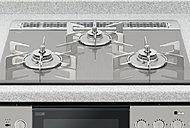 過熱や消し忘れの感知、設定温度のキープや自動炊飯機能、両面焼き水なしグリルも搭載したガスコンロです。