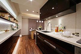 キッチンのサイズ・形状を変更