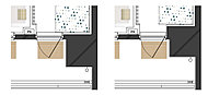 本物件はアウトフレーム設計を採用しており、お部屋に柱型が出ないので隅までしっかりと家具を配置することが可能です。
