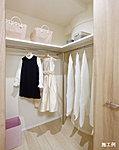 衣類のほか、生活用品や季節物の収納に便利なウォークインクロゼットを設置しています。※E、H1、H2タイプは除く。