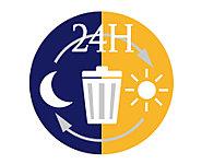 ライフスタイルに合わせて、24時間いつでもゴミ出し可能。遅いご帰宅時でもゴミを捨てることができます。