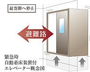地震の小さな初期微動(P波)を感知した段階で最寄階へ速やかに停止してスムーズな避難を促します。