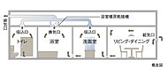 全住戸に24時間換気システムを採用しています。室内環境をいつも快適に保つことができます。