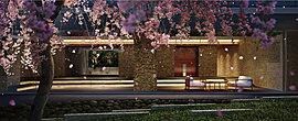 「上北沢」という地名に着想を得て、中庭に沢を造りました。そして、街のシンボルでもあるサクラをはじめ、常緑樹や落葉樹など、さまざまな樹種を周囲に配置。四季の移ろいを感じられる空間に仕上げています。