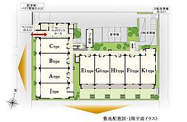 穏やかな住宅街に寄りそうように佇む、4階建ての低層レジデンス。2面接道の整形地という立地条件を活かし、南向き20邸、西向き18邸の住戸を配置しています。プライベート性と上質感を高めた38邸のレジデンスです。
