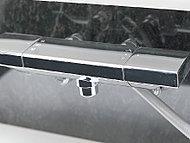 温度調節がしやすく使いやすいサーモスタット付水栓です。