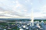 空撮パース 浄水上空から豊田市街方面を望む(2015年9月撮影)に一部CG処理を施しており、実際とは多少異なります