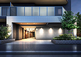 シンプルな配色で自然と街並みに調和する風格ある外観デザイン