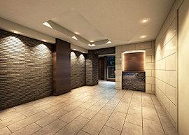 エントランスには、住まう人、訪れる人を優しく迎え入れる「迎賓」の空間であるべく、細部までこだわったデザインを採用しています。