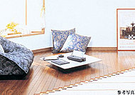 空気を汚さず運転音もほとんどないガス温水式の床暖房を採用。足元から室内全体をムラなく暖めます。