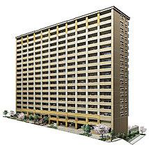 地上18階・総戸数176戸の規模を誇る「宝塚ザ・レジデンス」。外観は垂直ラインを強調することで、青く澄んだ空へと向かう伸びやかさを演出します。
