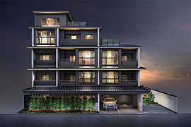 日本の現代美を纏い、御所西の新たな誇りとなる邸。