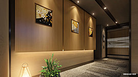 風除室とエントランスホールを舞台に、二つの美意識のコラボレーションを実現。
