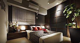 約6.0帖のゆとりを確保。スクエアな室内形状なので家具などのレイアウトもしやすくなっています。