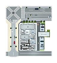 ビッグプロジェクトならではのスケールメリット。「ザ・エンブル七間町」は三方接道の、「七間町通り」のアイストップとなる角地に立地。駐車場は全戸分をご用意しました。また自転車置き場は建物の地下に確保し、防犯性を高めています。