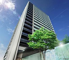 ホワイト基調の外壁タイルとガラス手すりをまとったファサードは、都心にそびえる洗練の邸を印象づけ、バーチカルなラインを強調するグレーガラスとマリオンがアクセントとなり、市街を一望する高さ65mの勇姿を強調します。