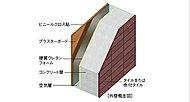隣接住戸から生活音や、外部の騒音に配慮し、コンクリート厚は約150mmを確保しました。