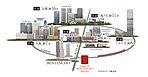 大阪の主要路線、JR大阪環状線と地下鉄中央線を自在に使いこなし、都心ターミナルの大阪・梅田、天王寺やビジネスの集積地である本町をダイレクトに結ぶアクセス。