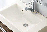 洗面化粧台は見た目が美しく、デザイン性に優れた仕様になっています。