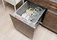 食器の後片付けがスピーディにできる食器洗い乾燥機。 節水効果にも優れています。