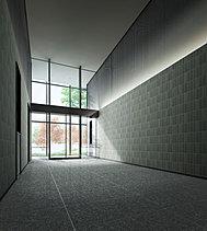 エントランスホールは吹抜け空間とし、レジデンスとしての風格を演出しました。