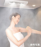 癒しや美容の効果が期待できるミストサウナ機能もついた、浴室暖房乾燥機。
