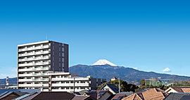 富士山を借景に佇む、全邸南向きの開放邸宅に住まう。