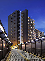 街のシンボルとなる、洗練のレジデンス。駅前一体開発の区画整理された住宅街に本件は誕生します。駅からペデストリアンデッキの降り口に、モダンな佇まいが街のシンボルとなることでしょう。