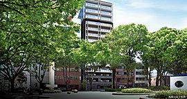 深呼吸する、中区、栄アドレス。名古屋の都心生活、そのイメージを刷新するレジデンス、「プレサンス ロジェ 栄 白川公園」。潤い豊かな緑と向かい合い、リラクゼーションも栄のスタイリッシュシーンも謳歌できる贅。