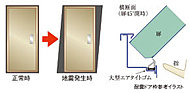万一の地震の際に玄関のドア枠が多少変形してもドアが開くよう、ドア枠は耐震ドア枠を採用。