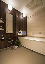 多機能にインテリア性も備えた美しいバスルーム。