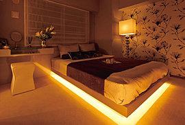 穏やかな寛ぎをお届けする上質仕様のゆとりある主寝室。