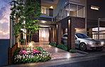 優雅に、のびやかに、穏やかな心地へと導く迎賓空間。迎賓にふさわしい邸宅としての気品に満ちたエントランス。
