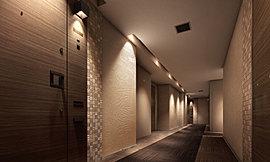 プライバシーと防犯性を高める、内廊下設計。都心だからこそ重視したい、プライバシーや防犯性。本プロジェクトでは共用廊下を内廊下設計とすることで、暮らしの安心にも配慮しています。