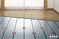 足元からお部屋全体を心地よく暖めます。空気を汚さず、埃を舞い上げない健康的な暖房です。